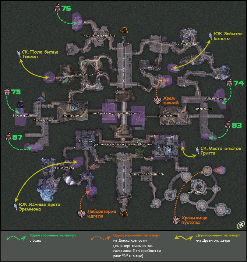Карта Именных Мобов Aion